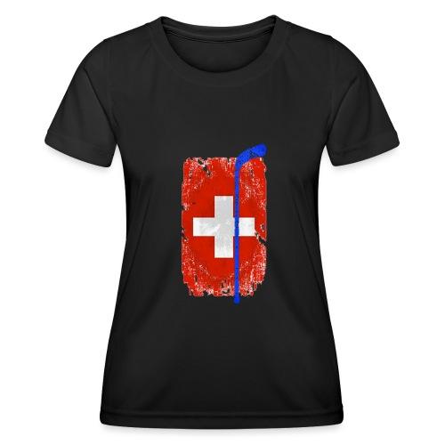 Schweizer Flagge Hockey - Frauen Funktions-T-Shirt