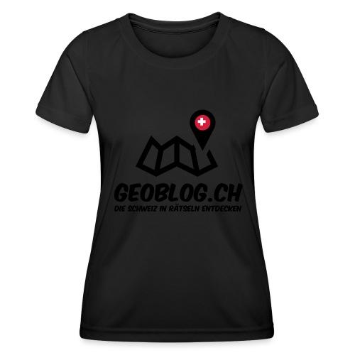 Logo+Schriftzug-hoch - Frauen Funktions-T-Shirt