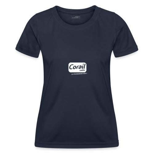 Logo blanc - T-shirt sport Femme