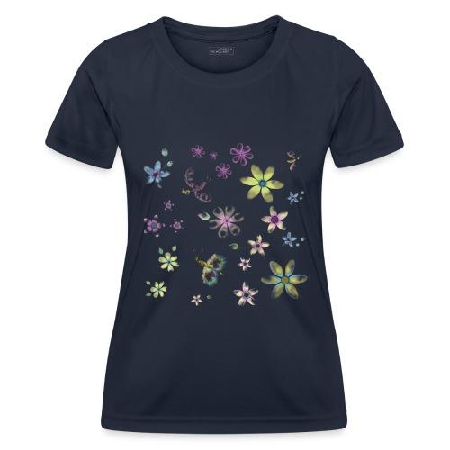 flowers and butterflies - Maglietta sportiva per donna