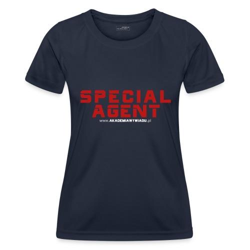 Emblemat Special Agent marki Akademia Wywiadu™ - Funkcjonalna koszulka damska