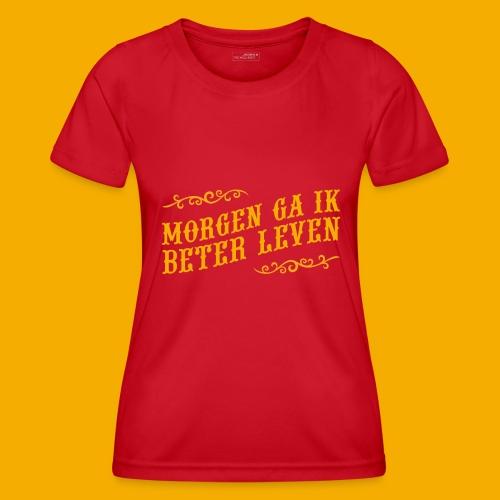 tshirt yllw 01 - Functioneel T-shirt voor vrouwen