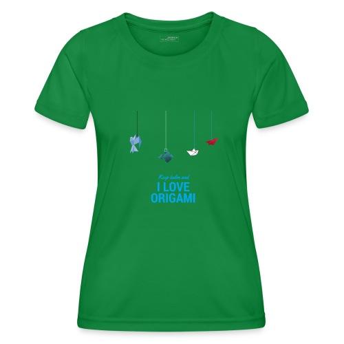keep kalm and love origami versione estate - Maglietta sportiva per donna