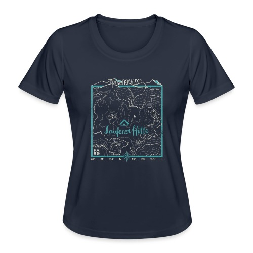 Laufener Hütte im Tennengebirge - Smalt Blue - Women's Functional T-Shirt