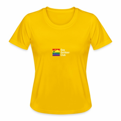 GOC Logo White Text - Women's Functional T-Shirt