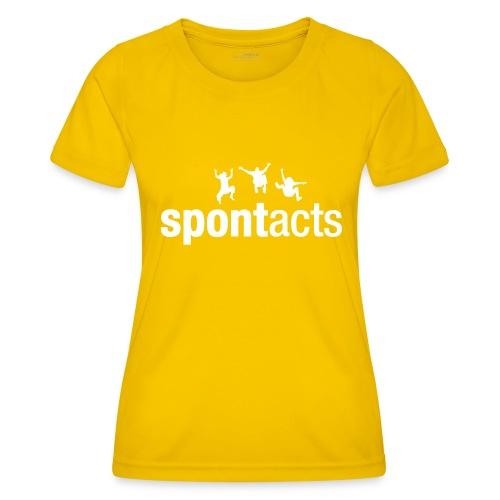 spontacts_Logo_weiss - Frauen Funktions-T-Shirt