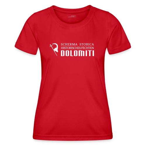 Maglietta 2021, bianco su sfondo colorato - Maglietta sportiva per donna