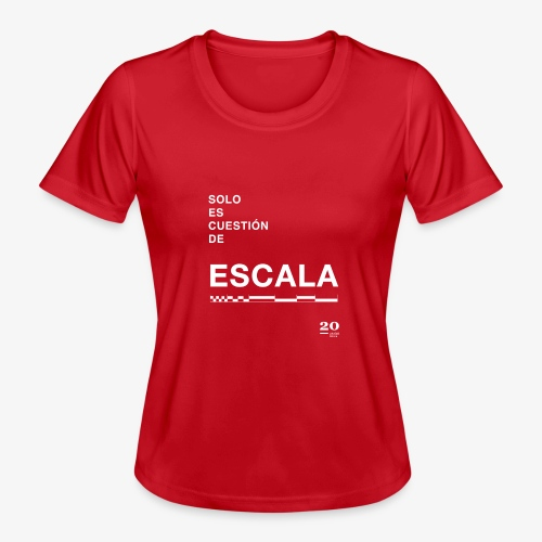 escala - Camiseta funcional para mujeres