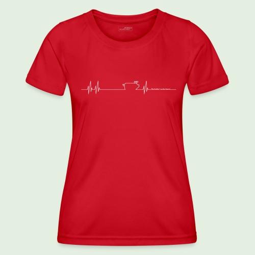 Herzschlag - Frauen Funktions-T-Shirt