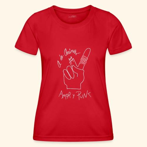 Amor y Punk White - Camiseta funcional para mujeres