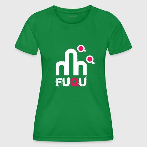 T-shirt FUQU logo colore bianco - Maglietta sportiva per donna