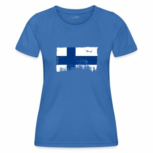 Suomen lippu, Finnish flag T-shirts 151 Products - Naisten tekninen t-paita
