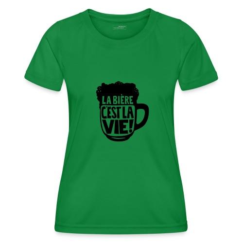 bière, la bière c'est la vie - T-shirt sport Femme