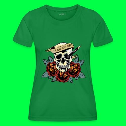 draw or die - T-shirt sport Femme