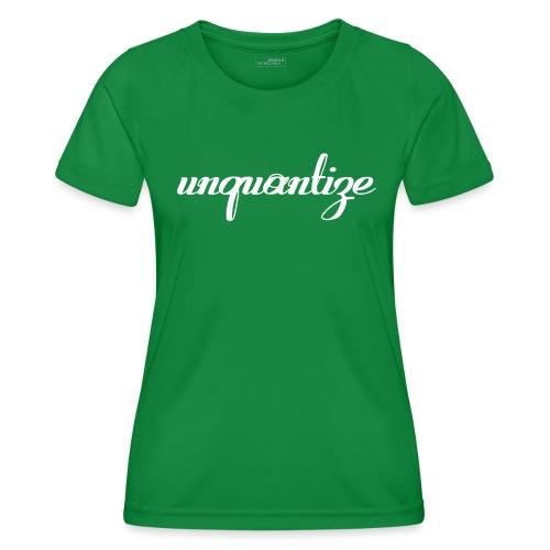 unquantize white logo - Women's Functional T-Shirt