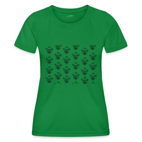 Mops mit Krone Muster Maske Hund - Frauen Funktions-T-Shirt