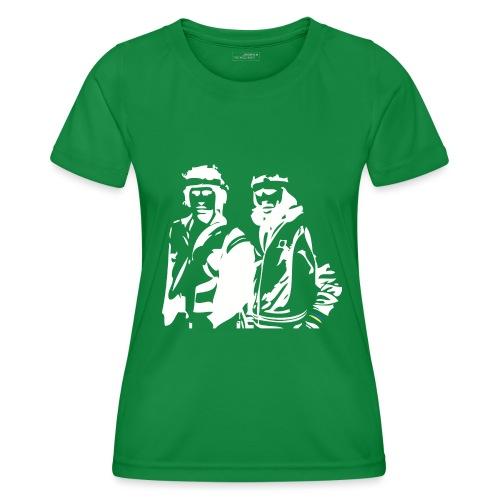 Borg McEnroe Retro Green+White - Naisten tekninen t-paita
