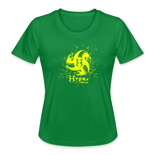 Hydra Design - logo glass explosion - Maglietta sportiva per donna