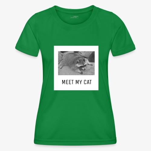 Meet My Cat - Naisten tekninen t-paita