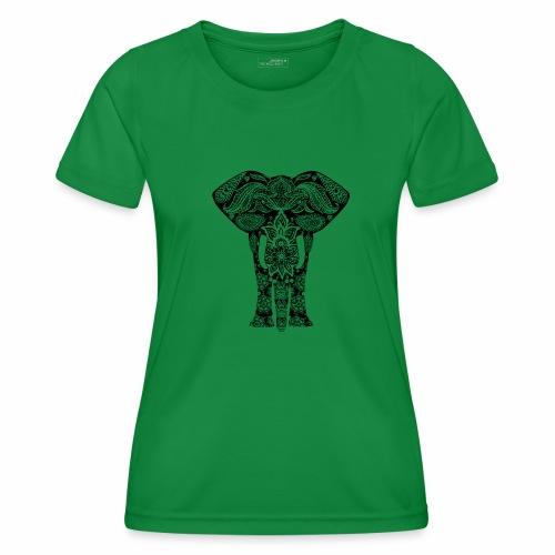 Ażurowy słoń - Funkcjonalna koszulka damska
