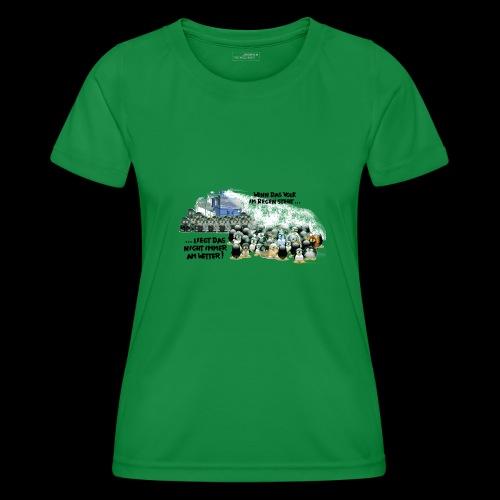 tux demo - Frauen Funktions-T-Shirt