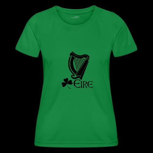Irish Harp and Shamrock - Women's Functional T-Shirt