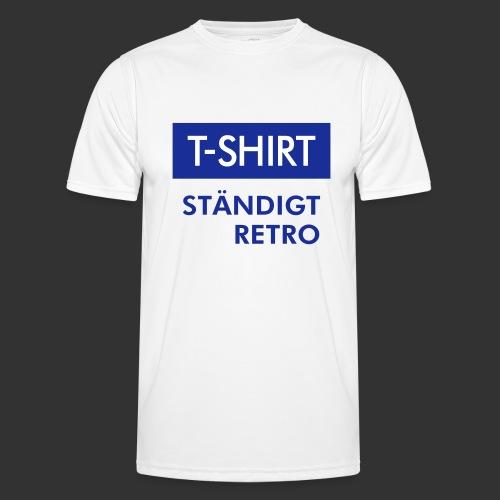 BLÅVITT T-SHIRT - Funktions-T-shirt herr