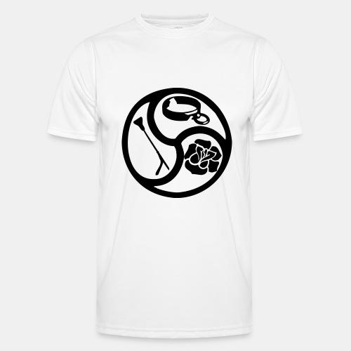 Triskele triskelion BDSM Emblem HiRes 1 color - Männer Funktions-T-Shirt