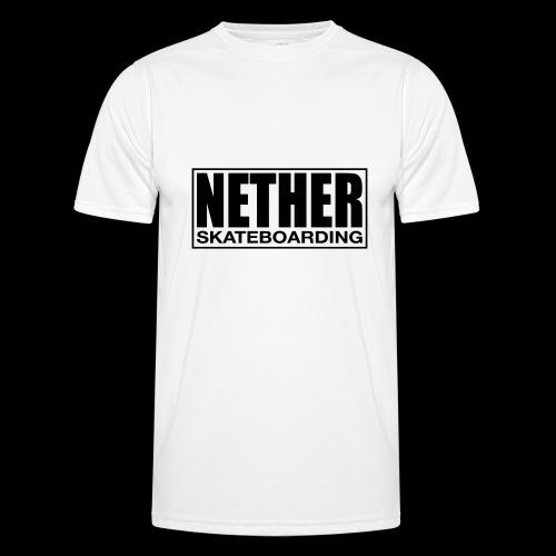 Nether Skateboarding T-shirt Black - Maglietta sportiva per uomo