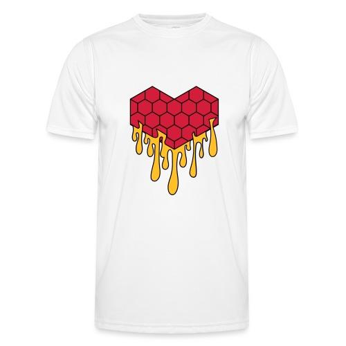 Honey heart cuore miele radeo - Maglietta sportiva per uomo