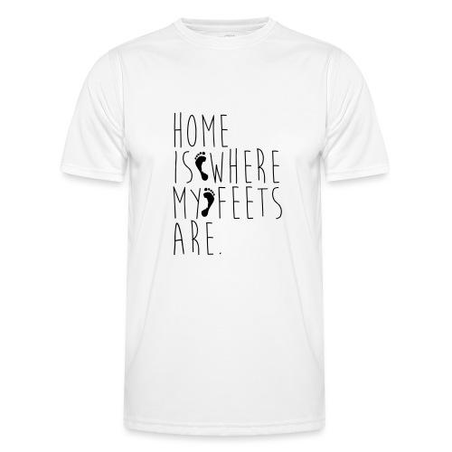 Home is where my feets are - Maglietta sportiva per uomo