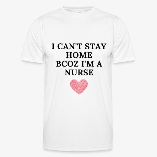 Because I'm Nurse - Miesten tekninen t-paita