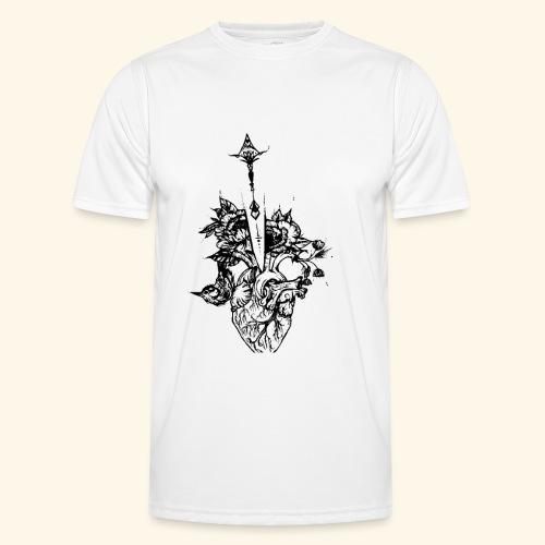la nature du coeur - T-shirt sport Homme