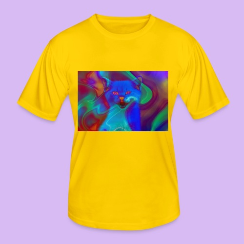Gattino con effetti neon surreali - Maglietta sportiva per uomo
