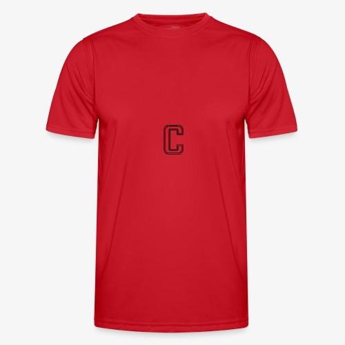 thiccc C logo WHITE - Men's Functional T-Shirt