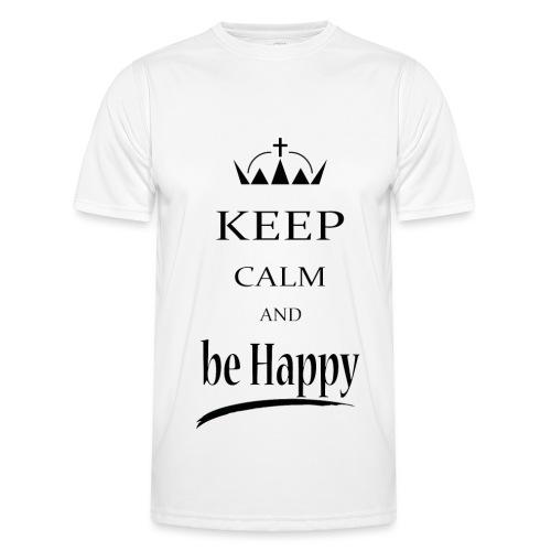 keep_calm and_be_happy-01 - Maglietta sportiva per uomo