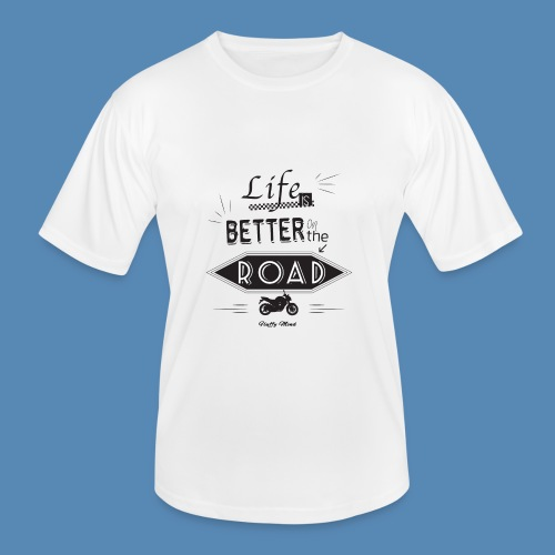 Moto - Life is better on the road - T-shirt sport Homme