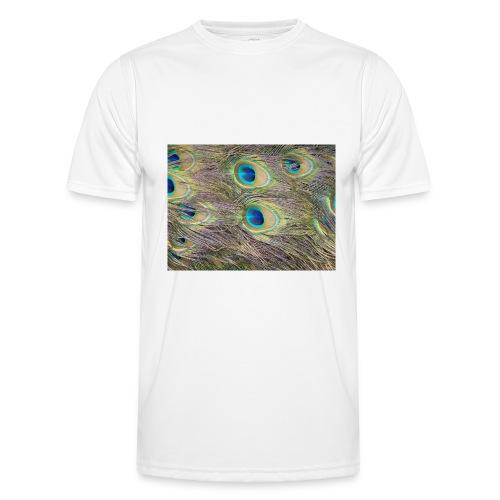 Peacock feathers - Miesten tekninen t-paita