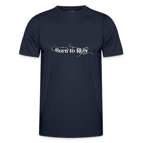 Born-to-RUN---Logo---White.png - Männer Funktions-T-Shirt