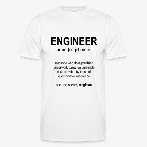 Engineer Def. 1 (Black) - T-shirt sport Homme