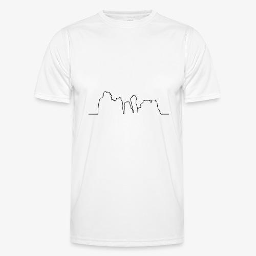 Kontur der Externsteine - Männer Funktions-T-Shirt