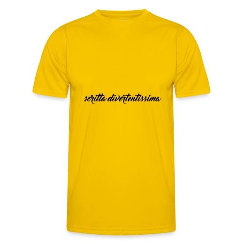 SCRITTA DIVERTENTE - Maglietta sportiva per uomo