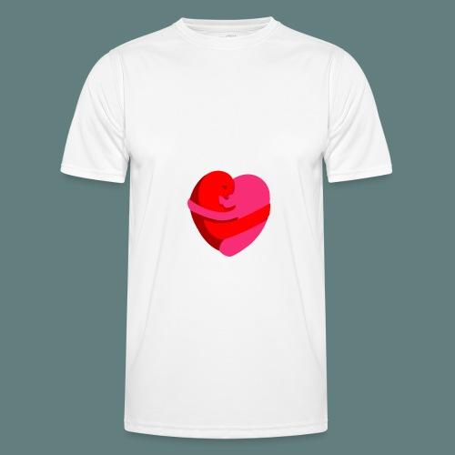 hearts hug - Maglietta sportiva per uomo