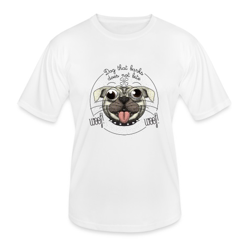 Dog that barks does not bite - Maglietta sportiva per uomo