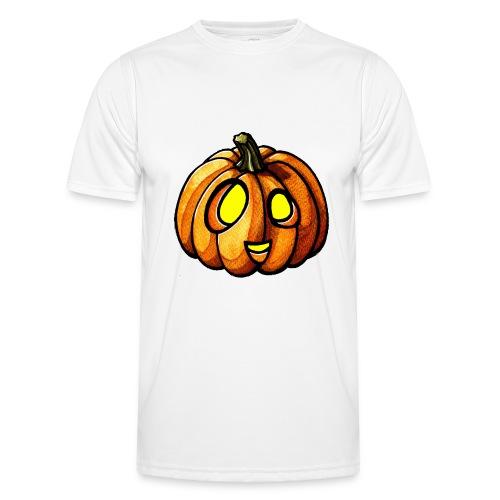Pumpkin Halloween watercolor scribblesirii - Männer Funktions-T-Shirt
