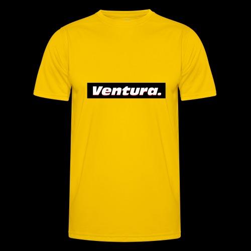 Ventura Black Logo - Functioneel T-shirt voor mannen
