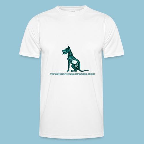 T-shirt pour homme imprimé Chien au Rayon-X - T-shirt sport Homme