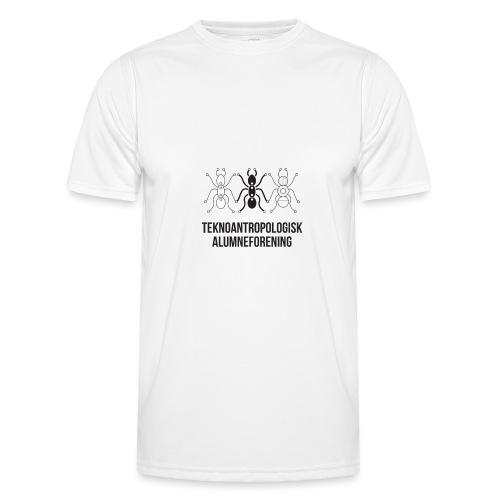 Teknoantropologisk Støtte T-shirt figur syet - Funktionsshirt til herrer
