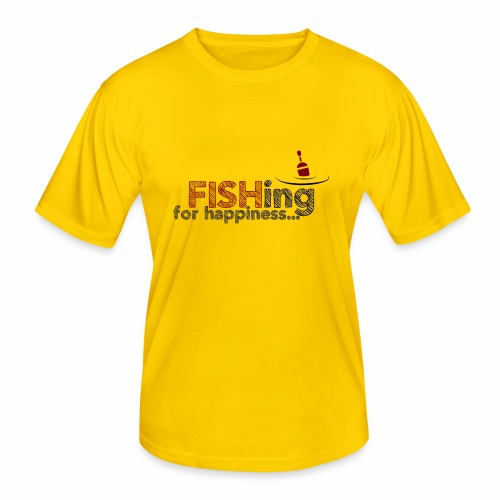 Fishing For Happiness - Men's Functional T-Shirt