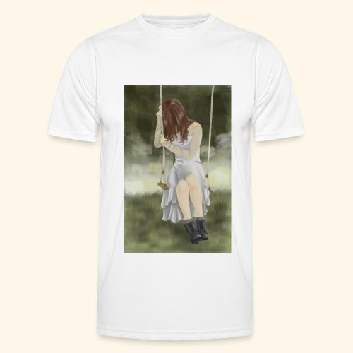 Sad Girl on Swing - Men's Functional T-Shirt